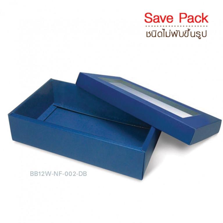 BB12W-NF-002-DB กล่องของขวัญเมทัลลิค (10กล่องไม่พับขึ้นรูป)