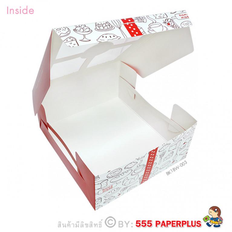 BK18W-003 กล่อง Snack 12.7x14x6.3 ซม. (20กล่อง) มีหน้าต่าง