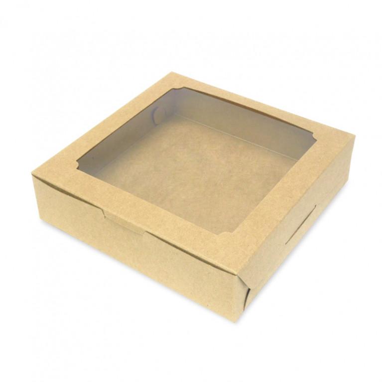 BK22W-K01 กล่องบราวนี่ 15.5 x 15.5 x 4 ซม. (20กล่อง)