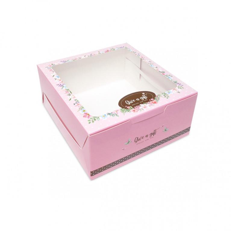BK59W-004กล่องครึ่งปอนด์(20กล่อง)16.2x17.5x7.5ซม.กล่องเค้กครึ่งปอนด์-กล่องชิฟฟ่อน