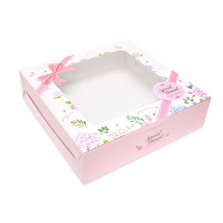 BK60W-007 กล่องเค้ก1ปอนด์เตี้ย (20กล่อง) 20.5x20.5x5.5 ซม.