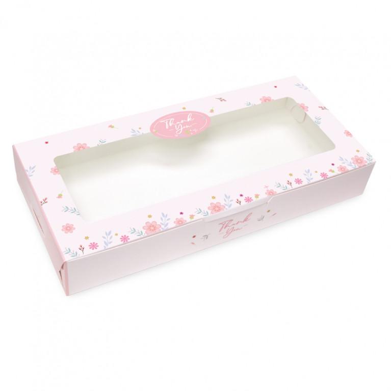 BK62W-018 กล่องบราวนี่ 6 ชิ้น 11 x 24 x 3.5 ซม. (20กล่อง)