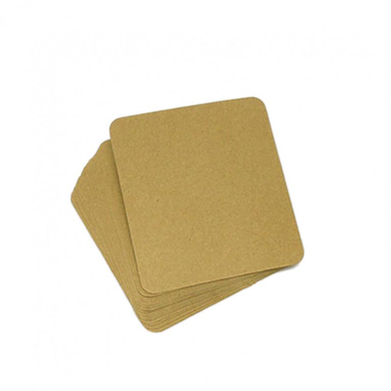 MP100-P08 กระดาษคราฟท์ รูปสี่เหลี่ยม 8.5 x 10 cm. (20 แผ่น)