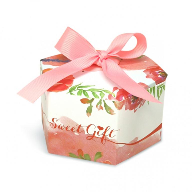 V019-003-L กล่อง 10x9x5.5ซม (20กล่อง) กล่องใส่ขนมขนาดเล็ก ของชำร่วย$