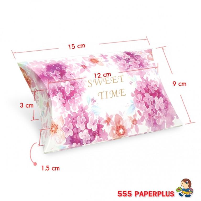 V025-001-L กล่องใส่ขนมขนาดเล็ก  กล่องใส่ของชำร่วย ทรงพาย (20 กล่อง)$