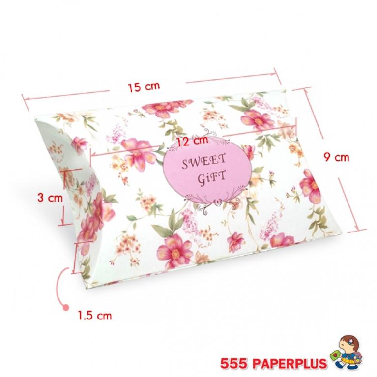 V025-002-L กล่องใส่ขนมขนาดเล็ก  กล่องใส่ของชำร่วย ทรงพาย (20 กล่อง)$